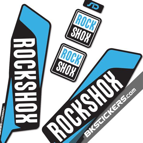 Rock Shox Aufkleber Orange by Rockshox Sid 2016 Stickers Kit Black Forks Bkstickers