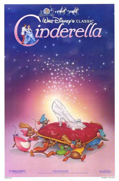film cinderella release cinderella movie poster 1 sheet re release 1987 original