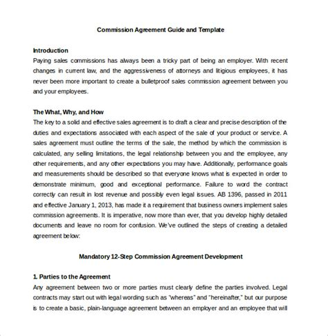 real estate commission agreement template commission agreement template 22 free word pdf