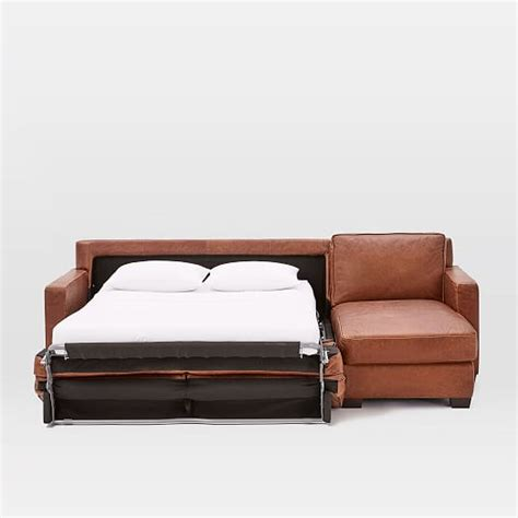 pull down sleeper sofa henry 2 piece pull down leather full sleeper sectional
