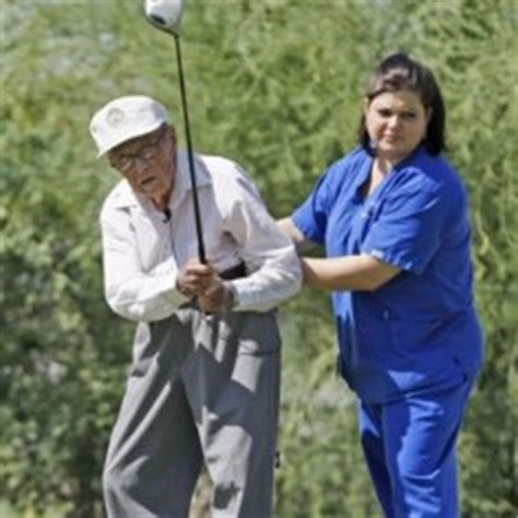 golf swing for older golfers 104 year old man emulates tin man to maintain golf swing