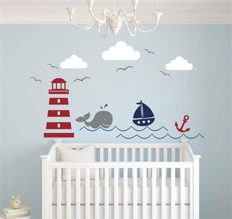 deco murale chambre enfant chambre b 233 b 233 moderne avec d 233 co inspir 233 e par la mer