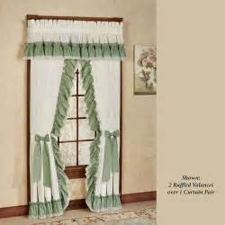 Priscilla Kitchen Curtains by Madelyn Ruffled Priscilla Curtains Window Treatment