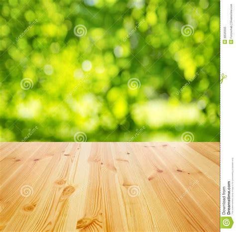 empty wooden table stock image image  bokeh copyspace