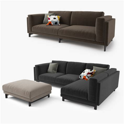 sectional model 3d model ikea nockeby series sofa