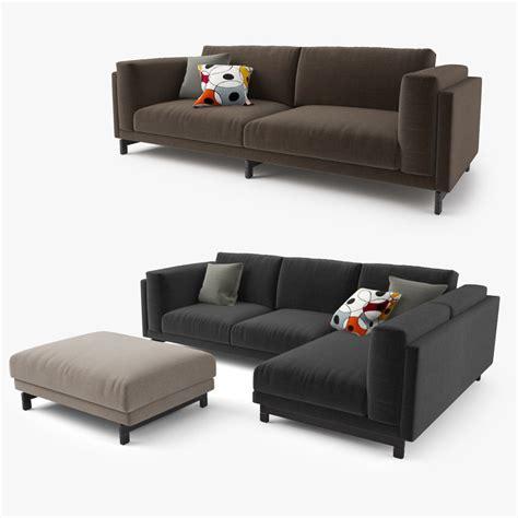 sofa models 3d model ikea nockeby series sofa