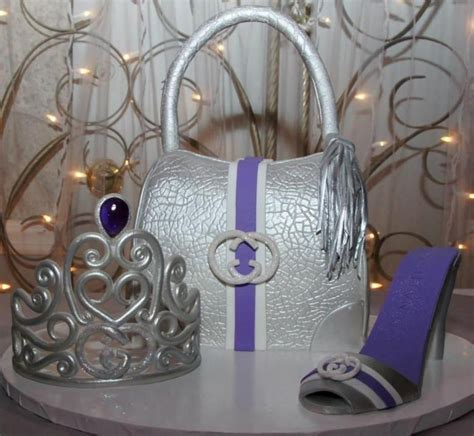 python gucci bag cake tiara and high heel shoe cakecentral