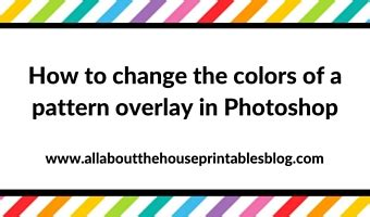 change pattern overlay color photoshop how to change the colors of a pattern overlay in photoshop