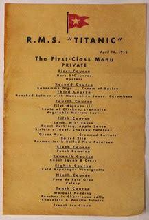 titanic menus planning your titantic tribute 1st class menu downton