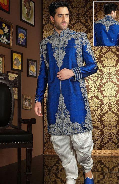 Royal blue and silver sherwani #royalblue #silver #