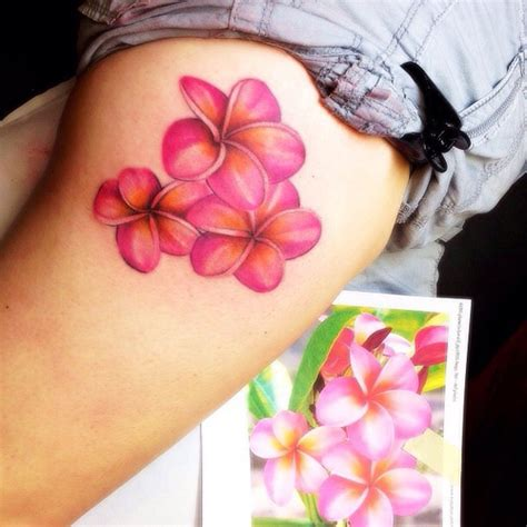 plumeria tattoo discovered by bobbie j on we heart it