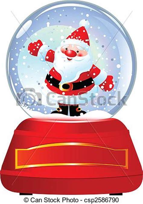 santa  snow globe santa claus  snow globe vector vector clipart search illustration