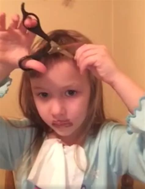 haircut story of girl this adorable little girl s youtube tutorial is the cutest