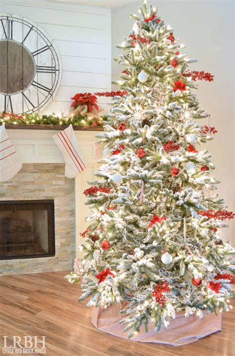 images of white trees decorated 2015 home tour part one brick house