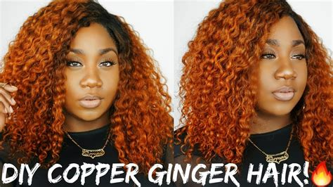 cajun spice hair color that fiyah diy orange curly hair ft unice