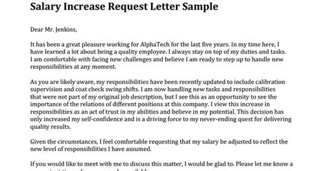 Increment Request Letter Format Doc Request For Salary Increase Sle Letter Docoments Ojazlink