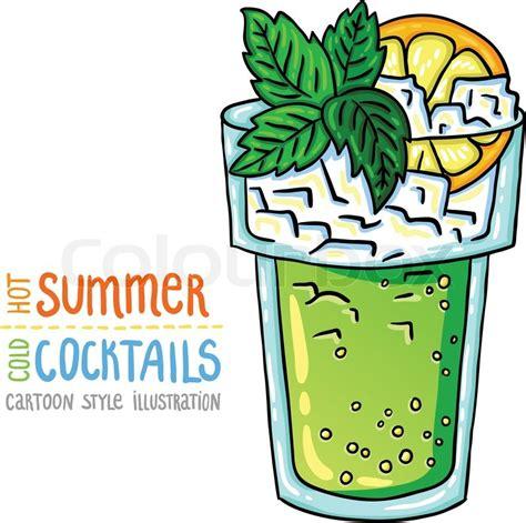 cocktail cartoon cartoon style illustration of fresh cocktail summer
