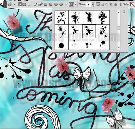 typography flower tutorial photoshop text effects flower blossom typography photoshop