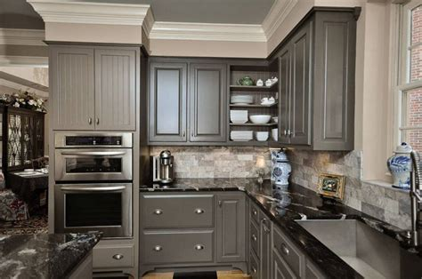 Grey Kitchen Cabinets by 30 Painted Kitchen Cabinets Ideas For Any Color And Size