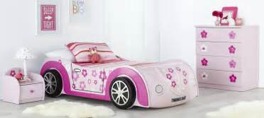 White Toddler Car Bed Car Bed And Themed Bedroom Furniture Suite With