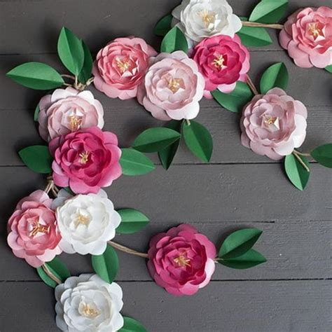 How To Make Japanese Paper Flowers - camellia diy paper flowers allfreepapercrafts