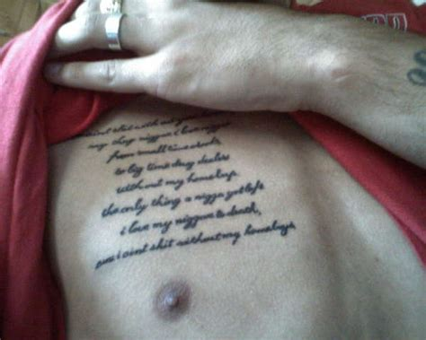 tattoo lyrics chest 2pac homeboyz lyrics tattoo