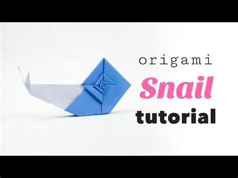 How To Make Origami Snail - origami snail 折り紙 カタツムリ doovi