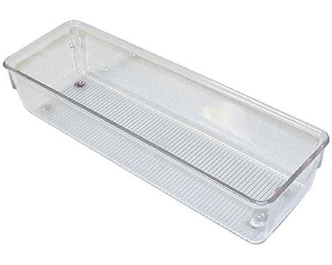Clear Plastic Drawer Dividers by Narrow Clear Plastic Drawer Organizer Medium In Drawer Bins