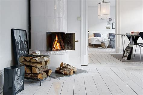 swedish fireplace inviting white swedish apartment with vintage fireplaces