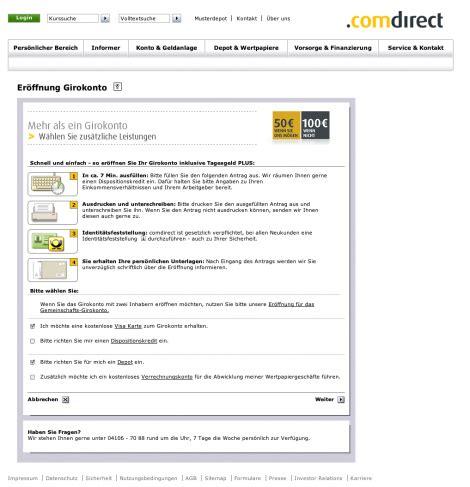 bank check24 comdirekt konto deutsche bank broker