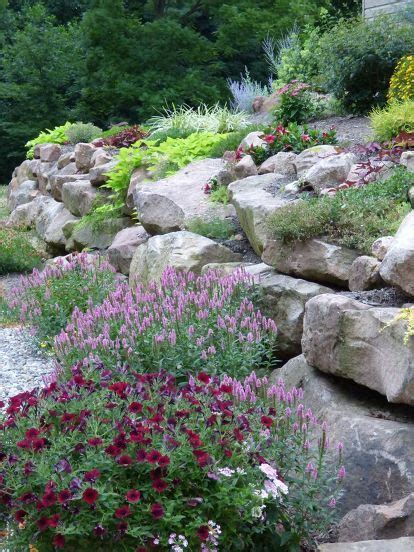 25 best ideas about rock wall gardens on rock
