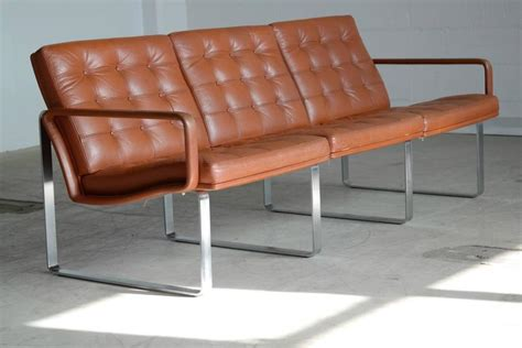leather sofa steel legs moduline leather sofa with steel legs by ole gjerl 248 v