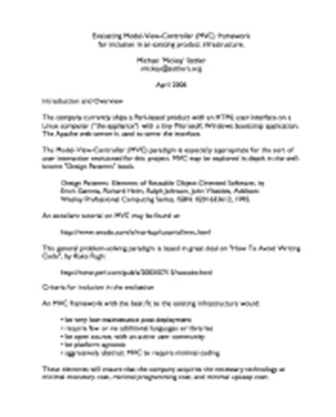 technical writing samples