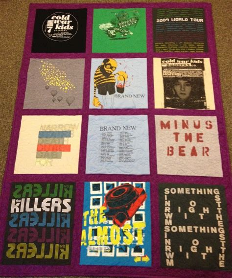 Concert T Shirt Quilt by Sylvania Quilting 2012 T Shirt Quilts