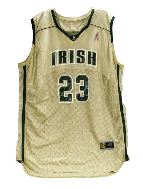 lot detail lebron james game worn high school jersey