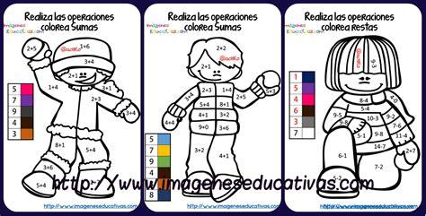 dibujos para colorear sumasyrestas colorea por sumas y n coloreamos por colores sumas y restas nos divertimos