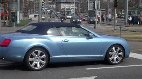 bentley convertible blue light blue bentley continental convertible in zurich