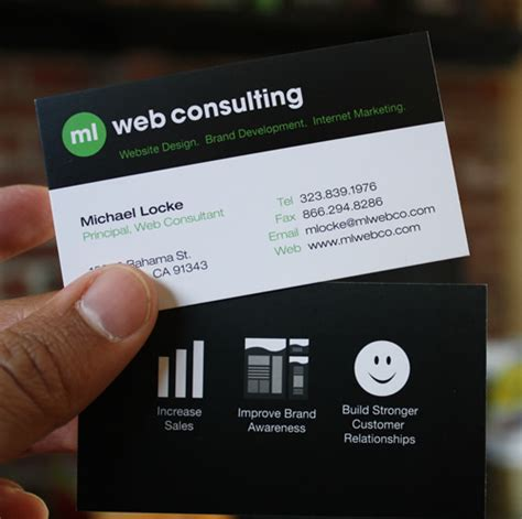 Best Consulting Business Card Template Free by Ml Web Consulting Business Cards
