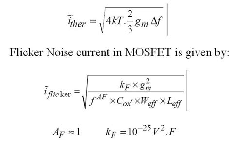 mosfet transistor noise vlsi design noise analysis in lifier circuits