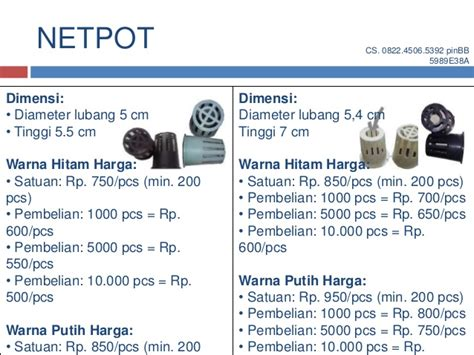 10 Lusin Netpot Putih Ukuran Tinggi 7 Cm 0822 4506 5392 telkomsel nutrisi hidroponik ab mix produksi agrifa