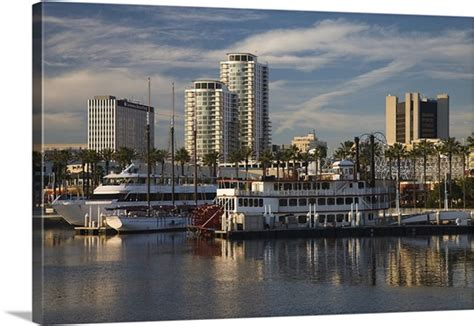 boat canvas long beach boats on a marina shoreline village long beach los
