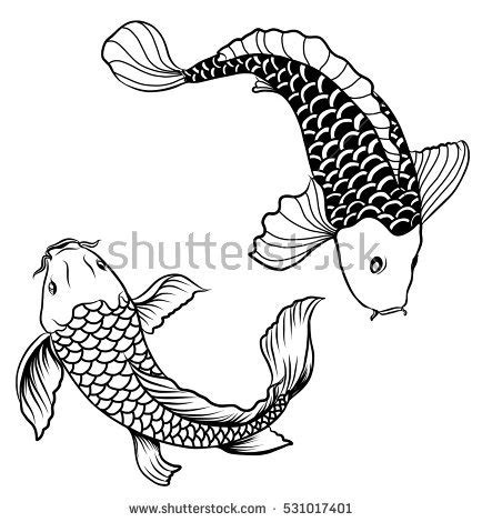 japanese koi fish vector graphic download free vector