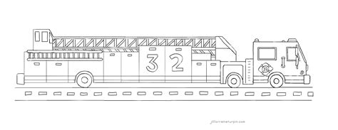 Ladder Truck Coloring Page | coloring pages my very own fire truck