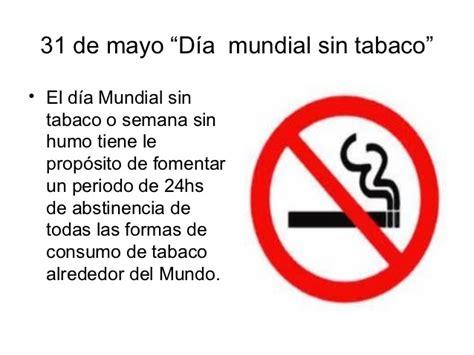 lema al da del no fumador calendario 6d pc 12 1