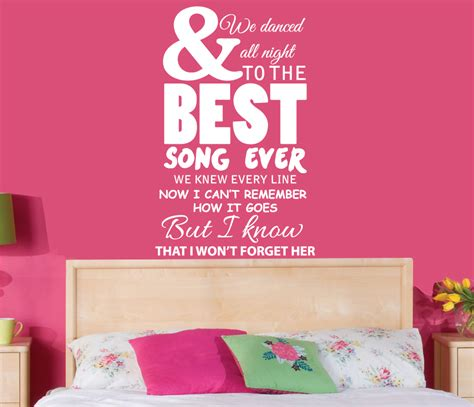 one direction wall stickers 1d one direction best song lyrics wall sticker wall