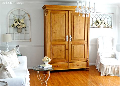 armoire in living room junk chic cottage home office and cooper up date