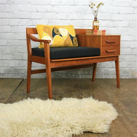 Kursi Sofa Retro Single Seat vintage chippy heath teak telephone seat mustard vintage