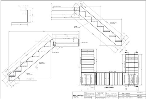 section drawing of staircase stair drawings stairs pinterest sheet metal design