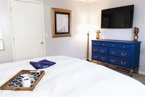 diy master bedroom decor quot my master bedroom tour quot diy navy copper master bedroom