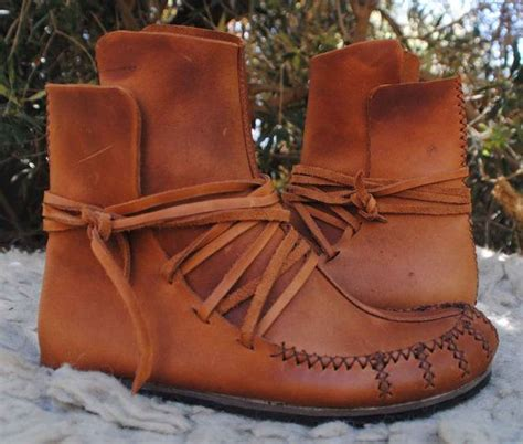 Handmade Leather Moccasin Boots - womens moccasin wrap ankle boots soft leather